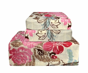 Pink Flower 400 Thread Count Printed Sheet Set