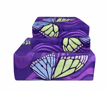Purple 400 Thread Count Printed Sheet Set