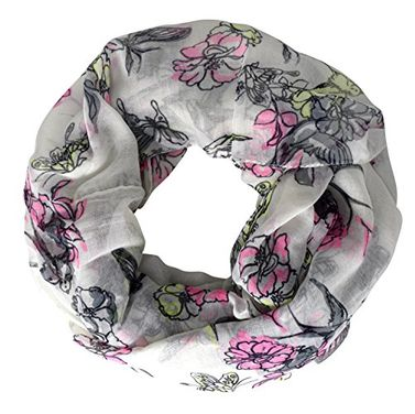 Adorable Pastel Colored Cherry Blossom Birds Infinity Loop Scarf