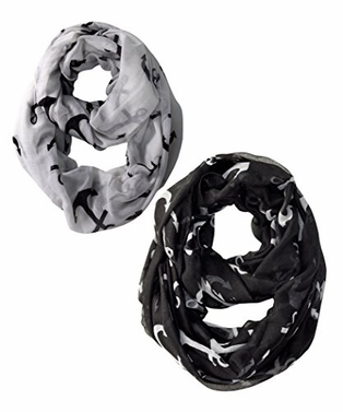 All season Infinity Loop Scarves Bold Anchor Print