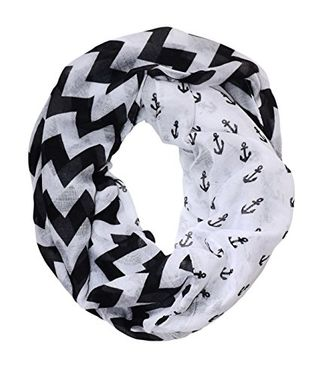 Multi Color Infinity Loop Scarves Chevron Anchor Print