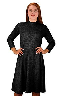 Ardent Academic Cozy Stylish Knit Pullover Sweater Dress