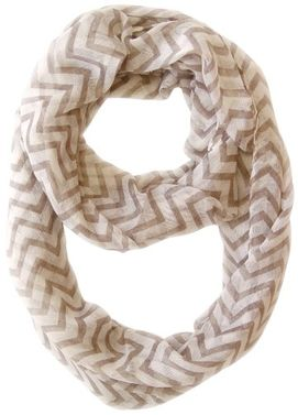Lightweight Sheer Chevron Infinity Loop Scarf