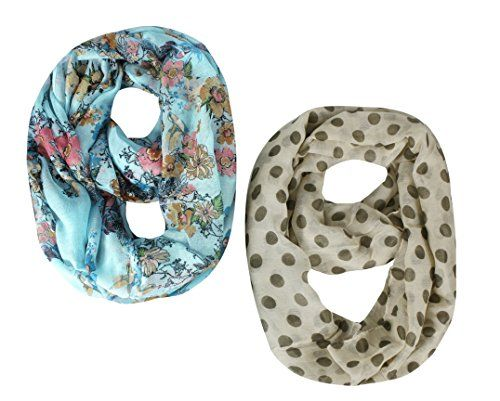 2 Pcs Combo Set Infinity Loop Scarf