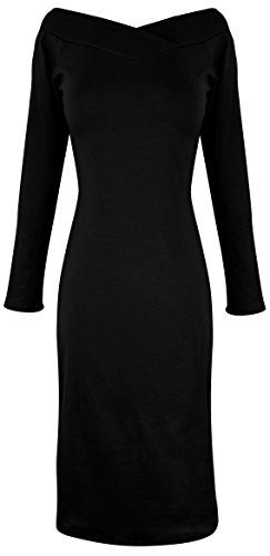 Black Bodycon Bodice Slim Fit Evening Dress Large