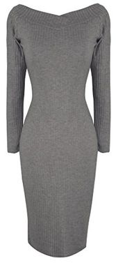 Grey Bodycon Bodice Slim Fit Evening Dress Small