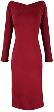 Maroon Bodycon Bodice Slim Fit Evening Dress XL