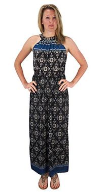 Bohemian Paisley Print Scoop Neckline Summer Halter Maxi dress