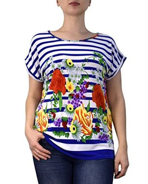 Boho Floral Print Light weight Casual Summer Tops T shirts Blouse