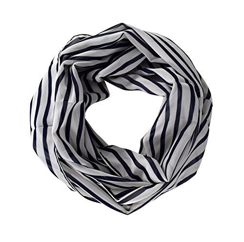 Bold Striped Vintage Style Multi Color Light Infinity Loop Scarf