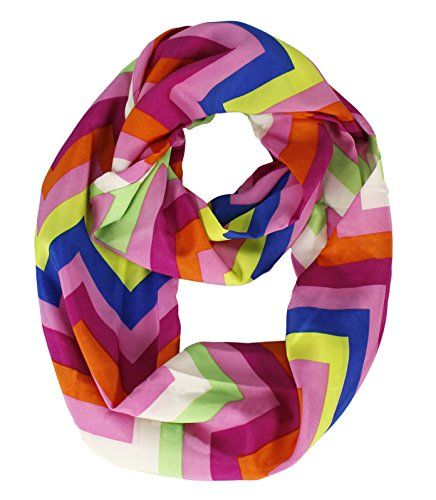 Bright and Beautiful Chevron Design Infinity Loop Scarves