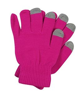 Neon Pink Texting Winter Gloves For iPhone iPad Android Any Touch Screen