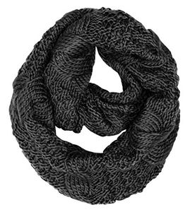 Peach Couture Cable Knit Chuny Winter Warm Infinity Loop Scarves (87)