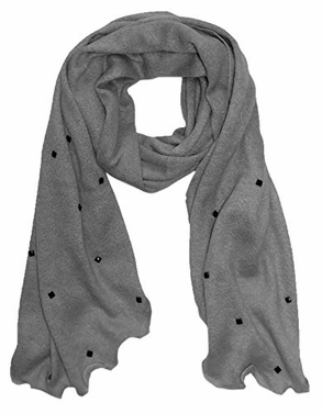 Peach Couture Cashmere Feel Gorgeous Vintage Inspired Stylish Scarf (Grey)