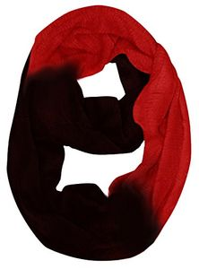 Wine Cashmere feel Two Toned Infinity loop neck scarf snood