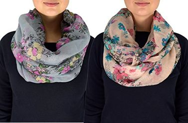 Cherry Blossom Scarf Floral Infinity Scarf