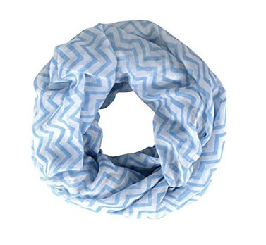 Chevron Zigzag Pattern Chic Lightweight Sheer Infinity Loop Scarf (19X32)
