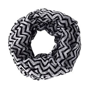 Chevron Zig Zag Pattern Chic Lightweight Sheer Infinity Loop Scarf (36X40)
