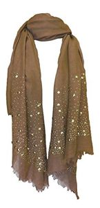 Classic Glittering Sparkle Studded Scarf Shawl Wrap