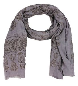 Lightweight Heavenly Henna Paisley Printed Eyelash Fringe Scarf