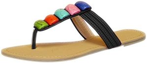 Colorful Clay River Rocks Womens Sandals Flip Flops 6