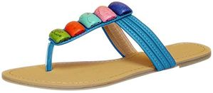 Colorful Clay River Rocks Womens Sandals Flip Flops 7