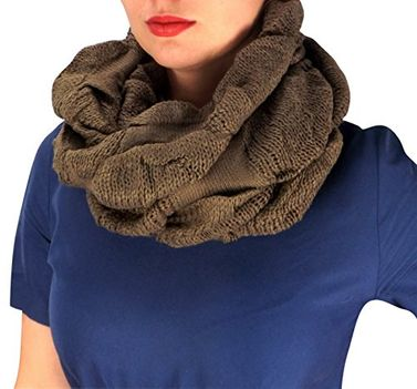 Peach Couture Cowl Neck Loop Scarf Winter Knit Thick Neck Warmer
