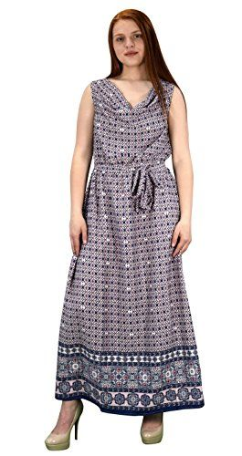 Blue Burgundy Cowl Neck Sleeveless Summer Maxi Dress Party Dress