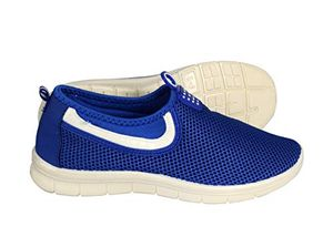 Blue White Easy Slip On No Lace Women's Sport Shoes Running Lightweight Sneakers