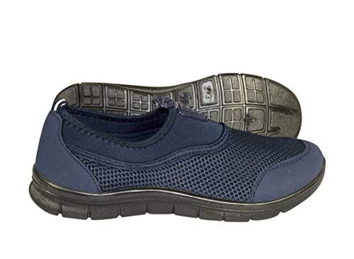 Navy Easy Slip On No Lace Women's Sport Shoes Running Lightweight Sneakers