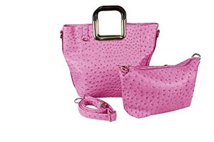 Fuchsia Personified 2 in 1 Tote and Satchel Exquisite Handbags