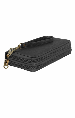 Grey Casual Wallet Clutch Purse
