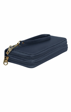 Peach Couture Elegant Stylish Simply Casual Wallet Clutch Purse Navy