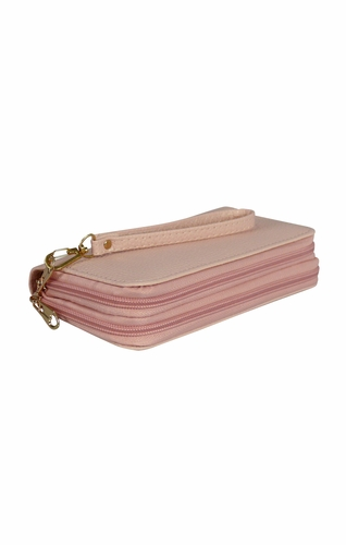 Pink Casual Wallet Clutch Purse