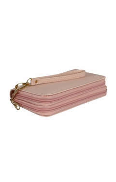 Peach Couture Elegant Stylish Simply Casual Wallet Clutch Purse Pink