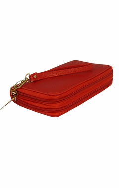 Peach Couture Elegant Stylish Simply Casual Wallet Clutch Purse Red