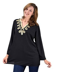 Embellished Neckline Summer Tunic Cover Ups