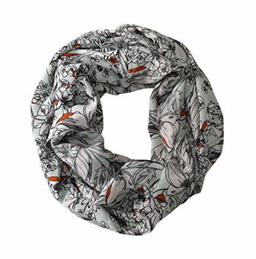 Peach Couture Exclusive Floral Print Vintage Infinity Loop Scarf
