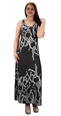 Exclusive Paisley Print Sleeveless Scoop Neck Beach Maxi Dress