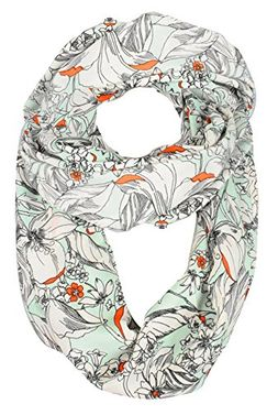 Exclusive Vintage Floral Prints Infinity Loop Scarves Light Scarf