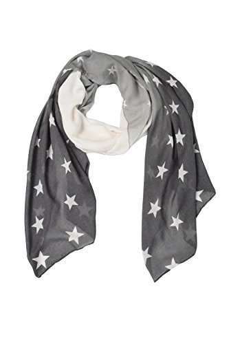 Grey Vibrant Patriotic Fading Star Print Light Scarf