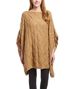 Peach Couture Extra Thick Crochet Knit Diamond Weave Batwing Shawl Wrap Poncho
