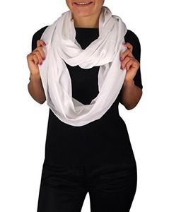 Ivory Lightweight Crinkled Infinity Loop Scarf Neon Faded Ombre (One Size)
