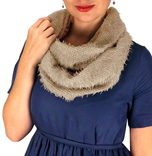 Faux Fur Warm Cozy Winter Infinity Loop Cowl Scarves
