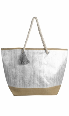 Peach Couture Gold Weave Large Travel Tote Hobo Handbags Shoulder Bags White Gold
