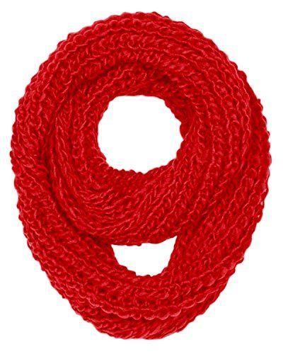 Hand Made Thick Chunky Knit Infinity loop Scarves in Warm Colors