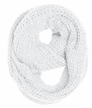Hand Made Ribbed Knit Infinity loop Scarves