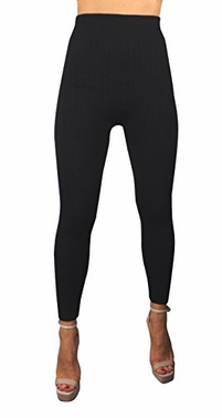 Peach Couture High Waist Slimming Seamless Fleece Lined Winter Leggings Yoga Pants (L/XL)