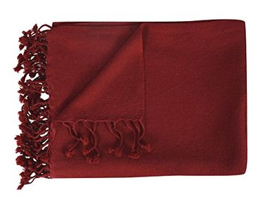 Maroon Warm and Soft Cashmere Throw Blanket 50 x 60 in