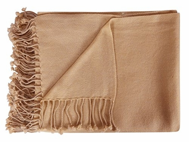 Tan Luxuriously Warm & Soft Cashmere Throw Blanket